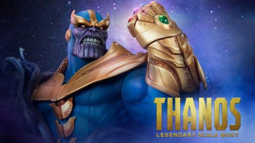 SIDESHOW THANOS BUST! ONLY 1250 MADE! FACTORY SEALED!