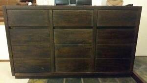 Dark stain solid timber buffet Soldiers Point Port Stephens Area Preview