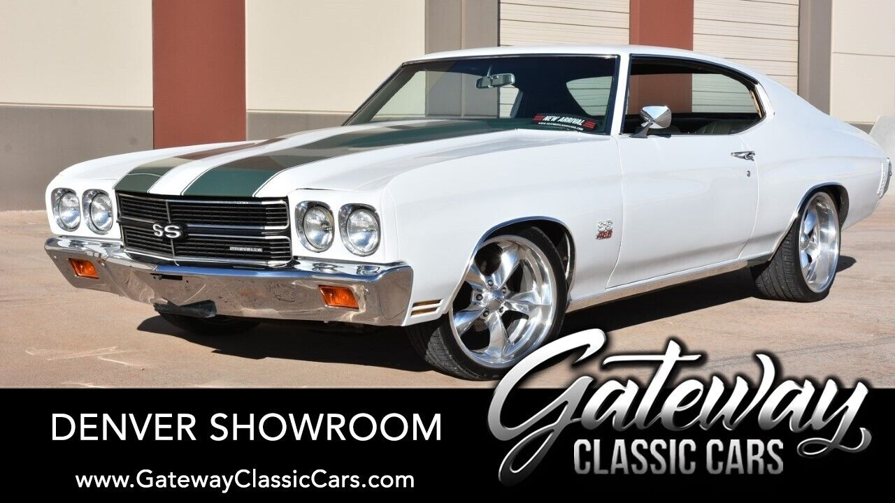 White 1970 Chevrolet Chevelle  496 BBC Stroker TH400 3 Speed Automatic Available