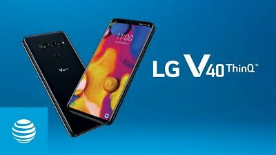 "New in Sealed Box LG V40 ThinQ V405TA 64GB 6.4"" T-Mobile Smartphone Aurora Black"