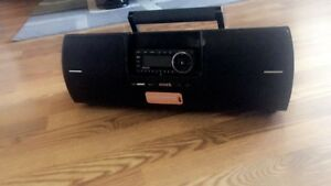 Sirius Satellite Radio with boombox