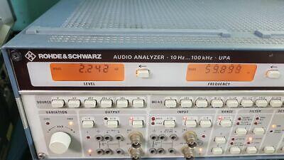 Rohde Schwarz Upa Audio Analyzer 4 Option