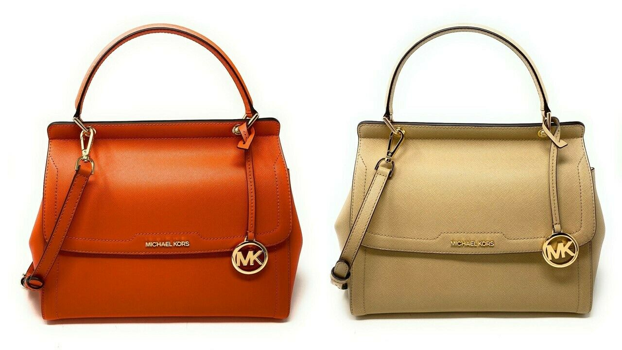 Michael Kors Women's Talia Large Top Handle Satchel Leather Handbag Crossbody Clothing, Shoes & Accessories