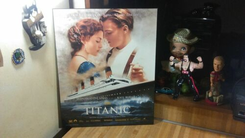 Titanic The Movie Poster,wood,hangs,vg!