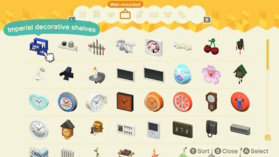 Animal Crossing Wall-Mounted Furniture, Pick 1 out of the list!