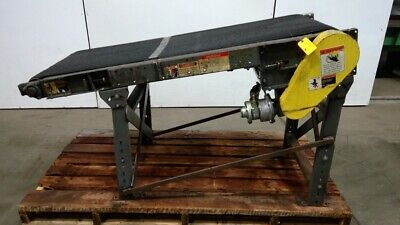 66-12 Pneumatic Air Powered Slider Bed 24 Belt Conveyor Incline 0-46 Fpm