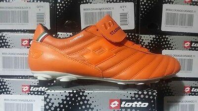 Lotto Retro Mens Soccer Cleats M5800 Orange Sz6 5 12 Fast Ship L