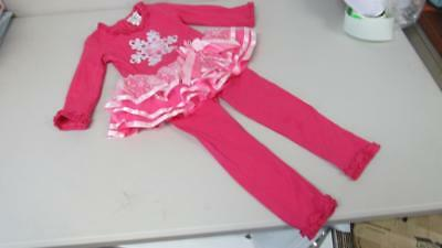 Emily Rose Boutique Christmas Outfit Pink Snowflakes Tulle/Glitter 4 5 6 NEW