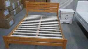 Brand New Oak Timber Bed Frame in Queen and Double Springvale Greater Dandenong Preview