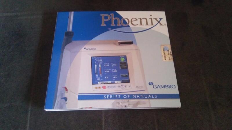 Original, unopened Gambro Phoenix dialysis machine user manuals on CD