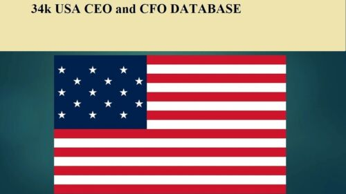 34K USA CEO and CFO  Database Sales Leads Email list Marketing
