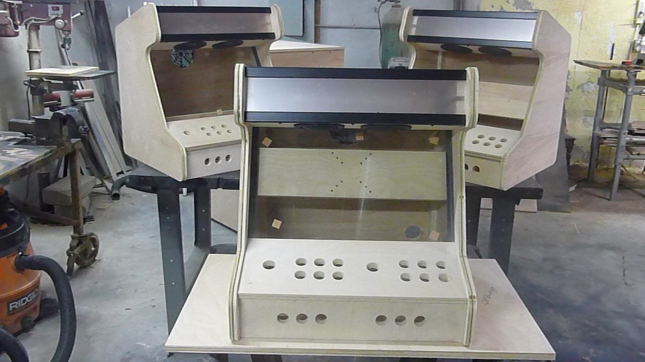 2 player bartop arcade deluxe kit with joysticks  buttons