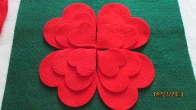 Felt Hearts Shapes.Set of 36 pieces,Die Cut Shapes,Applique,