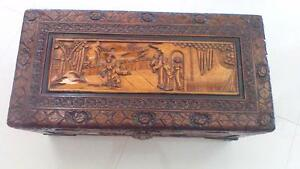 Decorative timber storage chest Leonay Penrith Area Preview
