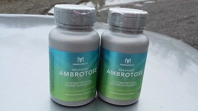 2 Bottles Of  Mannatech Advanced Ambrotose 120 Caps