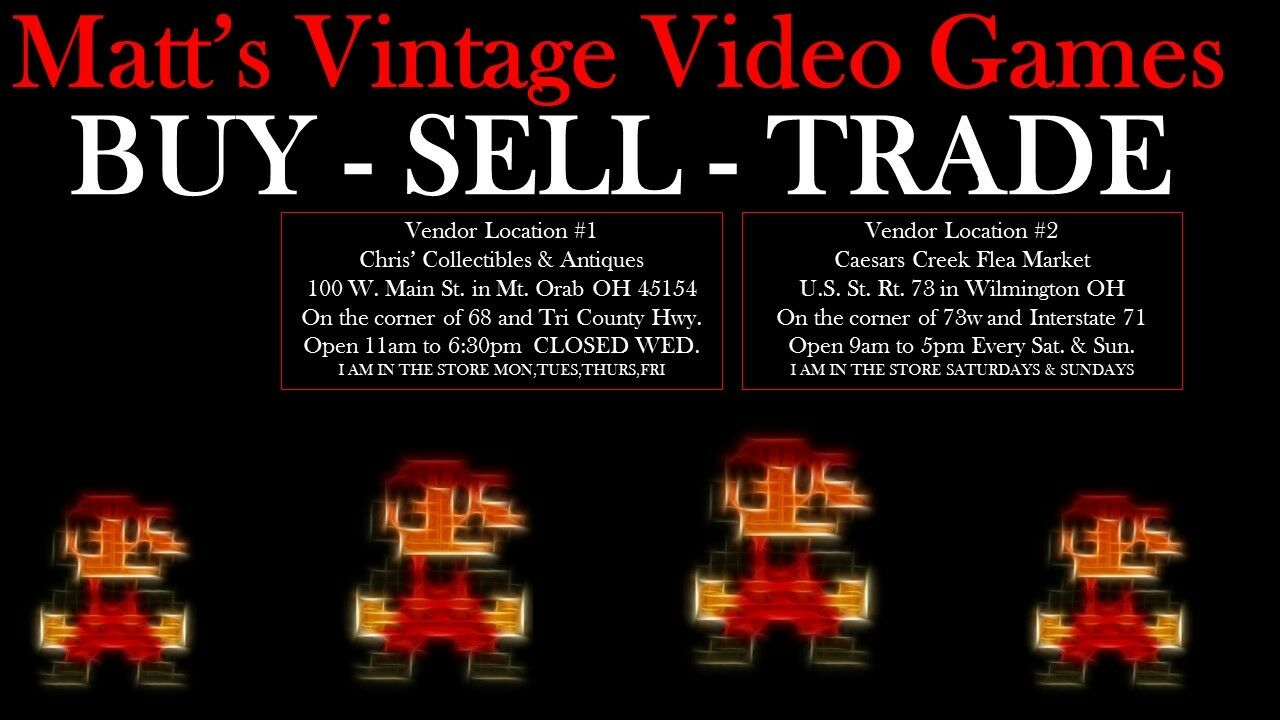Matts Vintage Video Games