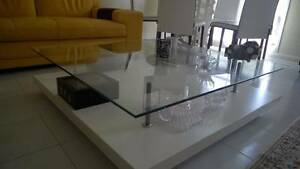 White &Glass Coffee Table Doonside Blacktown Area Preview