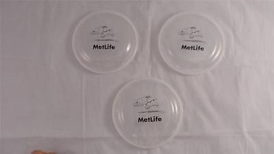 New Lot Of 3 Metlife Snoopy Small Humphrey Flyer Translucent Jewel Frisbees 5