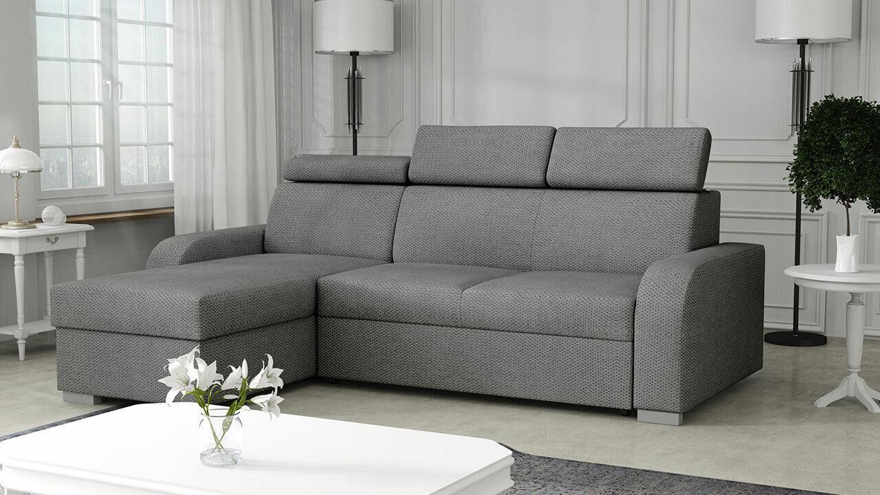 Ecksofa Pauli 2rLC mit Bettkasten und Schlaffunktion Polsterung Eckcouch Sofa