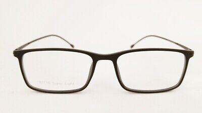 SUPER LIGHT S1716 eyeglasses Frame C2 Matte Black 51mm MEN Rx-able Light (Super Lightweight Eyeglasses)