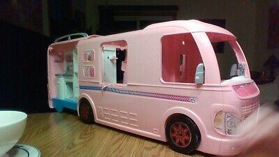 "Mattel Barbie Dream RV Motor Home Expandable Camper Pink 33"" Long"