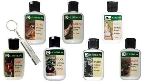 D.T. Systems All 7 Training Scents, 1.25 oz With FREE Out Rider Pro Whistle