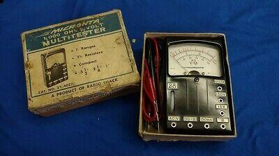 Vintage Radio Shack Micronta 1000 Ohmsvolt Multitester Number 22-4027 Tandy Co