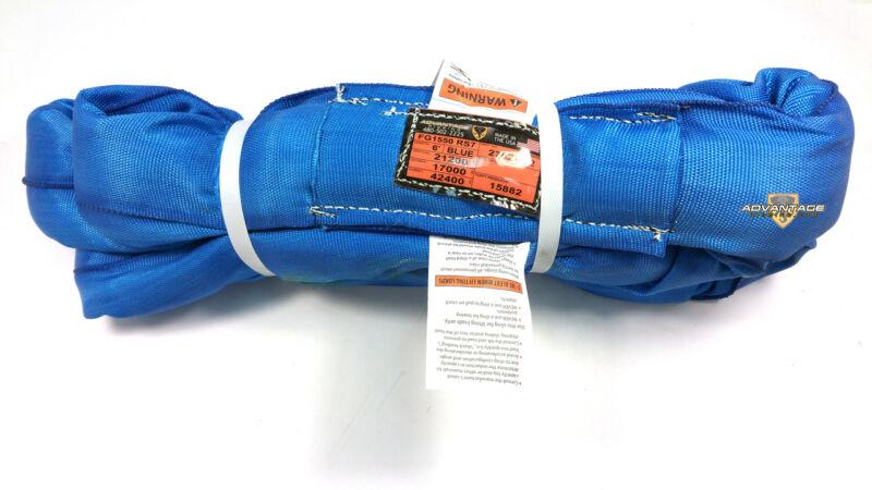 Blue Endless Polyester Round Sling Tubular 6