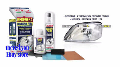 Clear Plastic Restoration Kit - Headlight Restore Headlamp Lens Cleaning Kit Plastic Lamp Restorer Crystal Clear
