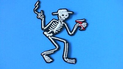 Lot of 3 Social Distortion Skeleton Iron On Patches! New Punk Rock Mike Ness