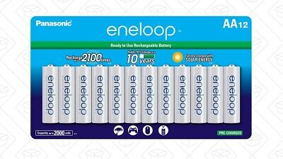 Panasonic Eneloop AA (BK-3MCCA12BA) Ni-MH Rechargeable Batteries (12 Pack) for sale  Shipping to India