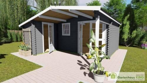 Gartenhaus Holz 510x480298 Holzhaus 40mm Blockhaus Geratehaus Norwegen 5 2 Raum