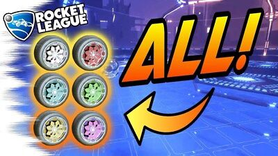 (PC) ALL PAINTED KALOS WHEELS ROCKET LEAGUE (Steam) - CHEAPEST/FASTEST (Cheapest Paint)