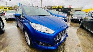 2014 Ford Fiesta WZ MY15 Sport PwrShift Blue 6 Speed Sports Automatic Dual Clutch Hatchback