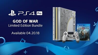 God Of War PS4 Pro Restricted Edition Bundle Brand New