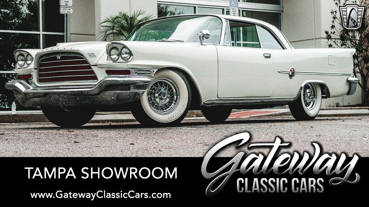 White 1959 Chrysler 300E Numbers Matching  Golden Lion wedge-head 413 CID V8 3 S