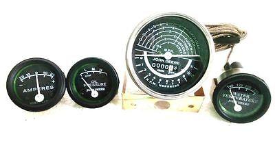 Tachometer Chrm Bezel Gauge Set Fits John Deere Tractor 5060 - Black Face