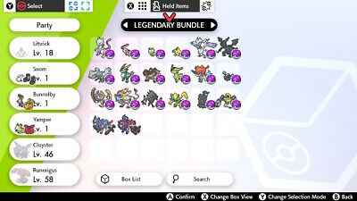 Pokemon Sword & Shield Legendary Bundle**READ DESCRIPTION**