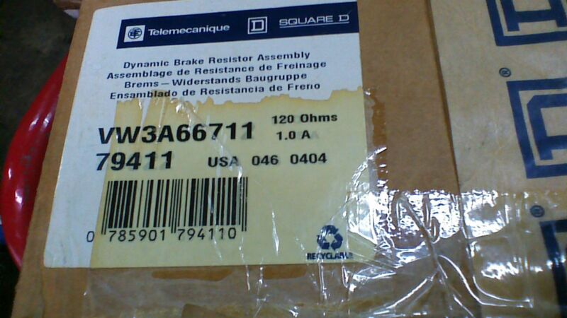 SQUARE D/TELEMECANIQUE VW3-A66711 NEW DYNAMIC BRAKING RESISTOR VW3A66711