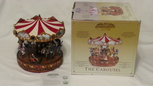 Mr Christmas Gold Label The Carousel WORKS-Lights,Sound,Moves 30 songs SEE VIDEO