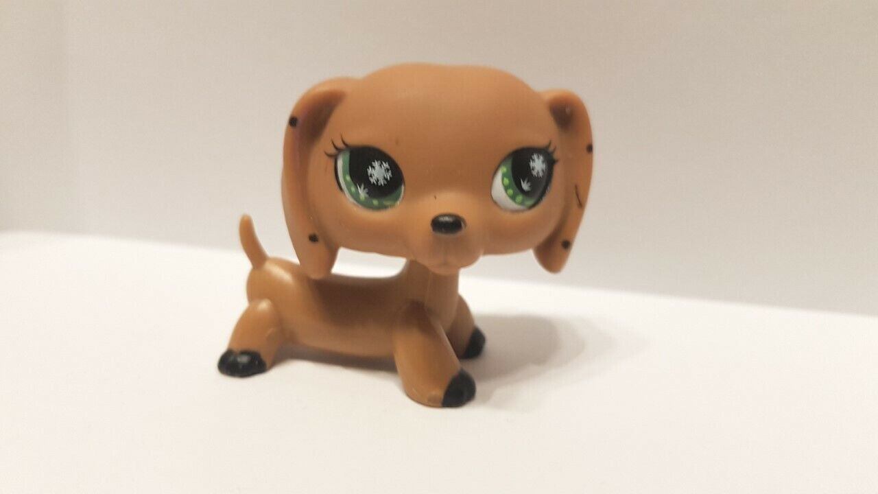 Figurine  petshop  original chien dog teckel daschund monopoly  pet shop lps (2)