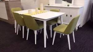 【Brand New】Vogue 7PCs Dining Set(Green Chairs) Nunawading Whitehorse Area Preview