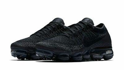 Sale! Nike Air Vapormax Flyknit Triple Black Grey Mens 849558-007 Sz. 7.5