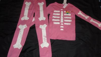 Glow In The Dark Girls Pajamas (NEW Girls Size 12 Gymboree Pajamas Glow in the Dark Skeleton Fitted '18 Line)