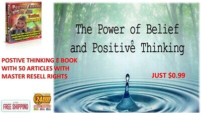 POSITIVE THINKING E BOOK PDF + 50 ARTICLES WITH MASTER RESELL RIGHTS just $0.99