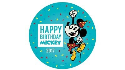 Happy Birthday Button (Happy Birthday Mickey Mouse 2017 Disney Parks Button)