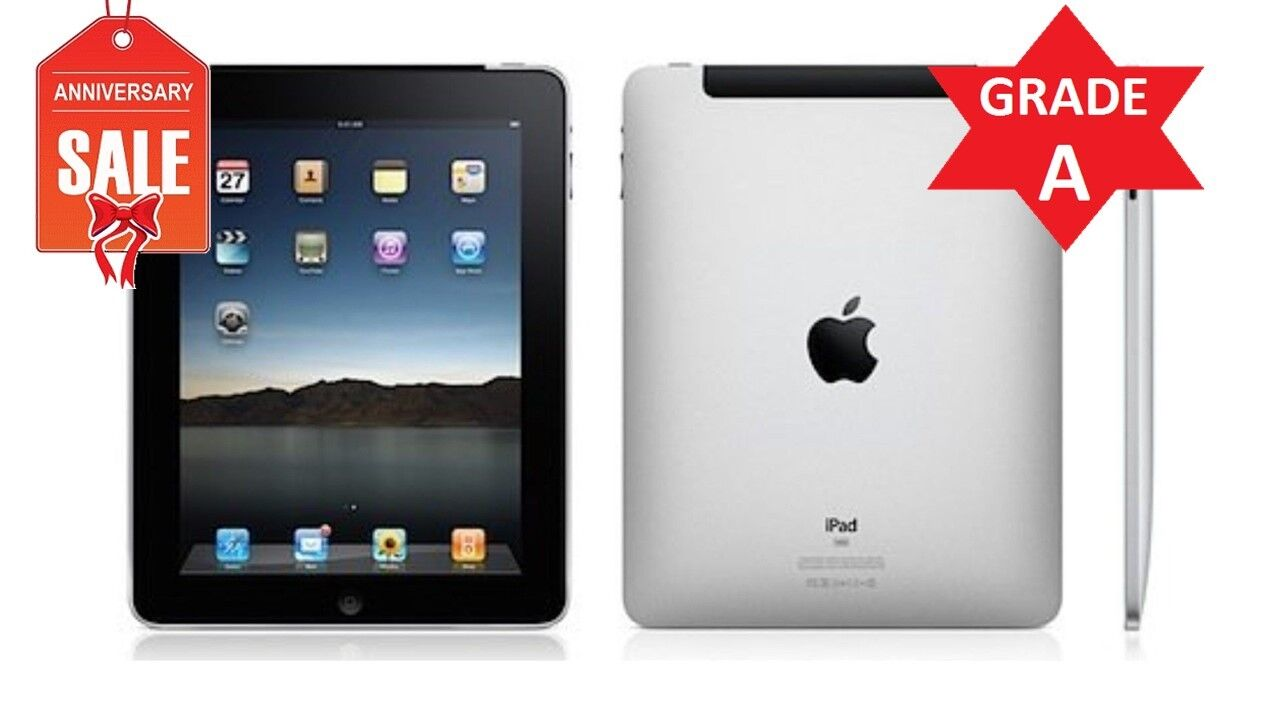 Apple iPad 1st Gen 16GB, Wi-Fi + 3G (Unlocked), 9.7in - Black - GRADE A (R)