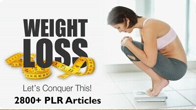 Successful Weight Loss 2800+ PLR Articles +Bonus Diet Plan Tips For Healthy Life