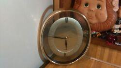 Vintage Heirloom Quartz Oval Wall Clock,11,works great,vg!