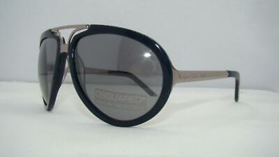 DSQUARED DQ0031 90B Navy Blue & Silver Sunglasses Sonnenbrille Mild Grey Lens
